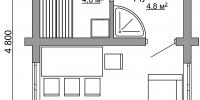 Баня Эконом (План 1)