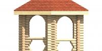 Беседка Летняя (Фасад 1)