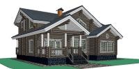 Дом Алтай фасад 1