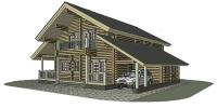 Дом Байкал фасад 2