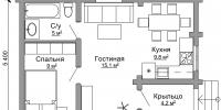 Дом Дачный план