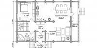 Дом Финский план 1