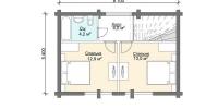 Дом Италия план 2 этаж