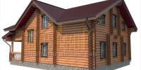 Деревянный дом Парус w2