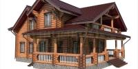 Деревянный дом Парус w3