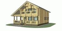Дом Шале фасад 2