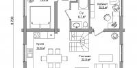Дом Янтарь план 1
