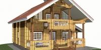 Деревянный дом Красивый (Вид 1)