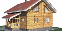 Деревянный дом Красивый (Вид 2)