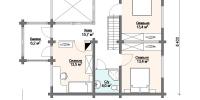 Деревянный дом Красивый (План 2)
