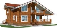 Деревянный дом Надежный (Вид 2)