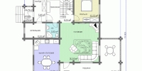 Деревянный дом Надежный (План 1)