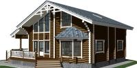 Деревянный дом Оригинальный (Вид 1)