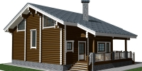 Деревянный дом Оригинальный (Вид 2)