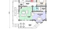 Деревянный дом Оригинальный (План 1)