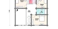 Деревянный дом Оригинальный (План 2)