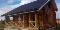 Отделка деревянного  дома вид 1