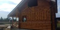Отделка деревянного  дома вид 2