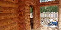 Отделка деревянного  дома вид 4