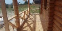 Отделка деревянного  дома вид 6