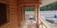Отделка деревянного  дома вид 7