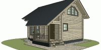 Деревянный дом Популярный (Вид 2)
