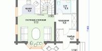 Деревянный дом Популярный (План 1)