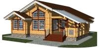 Деревянный дом Просторный (Вид 1)