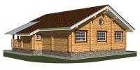 Деревянный дом Просторный (Вид 2)