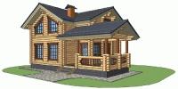 Деревянный дом Проверенный (Вид 1)