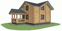 Деревянный дом Проверенный (Вид 3)