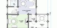 Деревянный дом Проверенный (План 1)