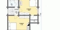 Деревянный дом Проверенный (План 2)