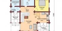 Деревянный дом Роскошный (План 1)