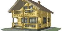 Деревянный дом Скромный (Вид 1)