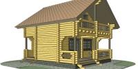 Деревянный дом Скромный (Вид 2)