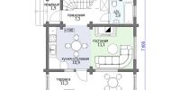 Деревянный дом Скромный (План 1)