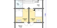 Деревянный дом Скромный (План 2)