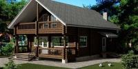 Деревянный дом Скромный (фото)