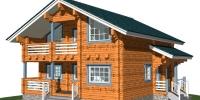 Деревянный дом Современный (Вид 1)