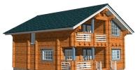 Деревянный дом Современный (Вид 2)