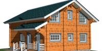 Деревянный дом Современный (Вид 3)