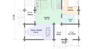 Деревянный дом Современный (План 1)