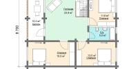 Деревянный дом Современный (План 2)
