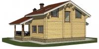 Деревянный дом Стильный (Вид 3)