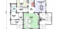 Деревянный дом Стильный (План 1)