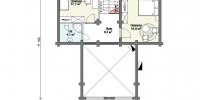 Деревянный дом Стильный (План 2)
