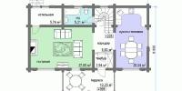 Деревянный дом Теплый (План 1)