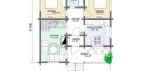 Деревянный дом Тихий (План 1)