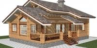 Деревянный дом Удобный (Вид 1)